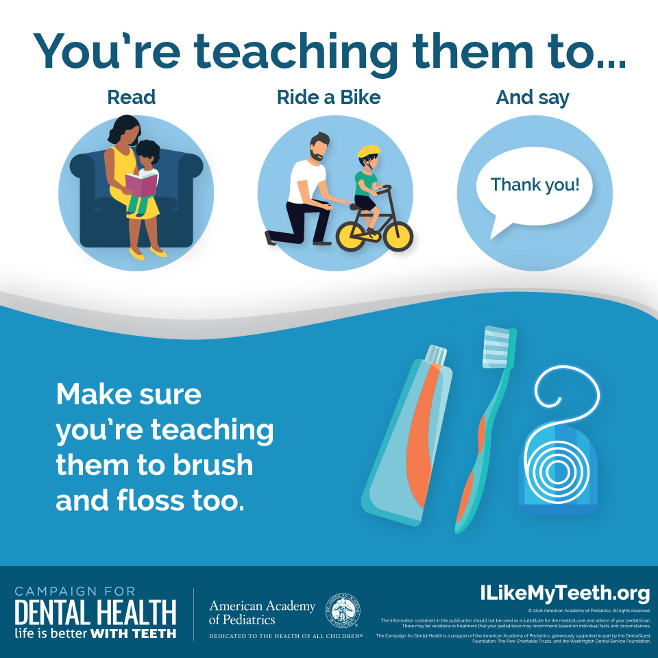 Teach Them to Brush and Floss