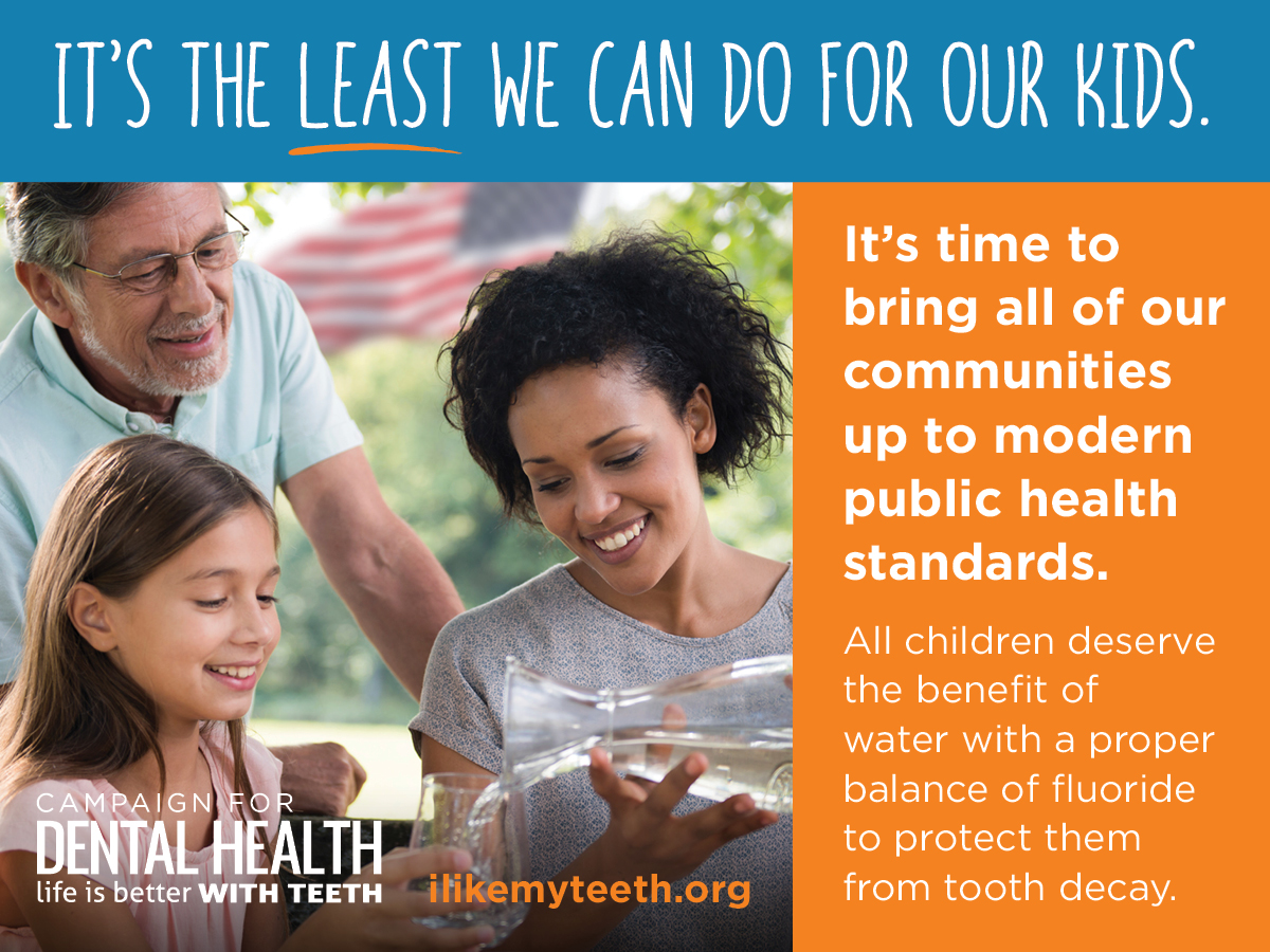 community water fluoridation is good for our children's teeth