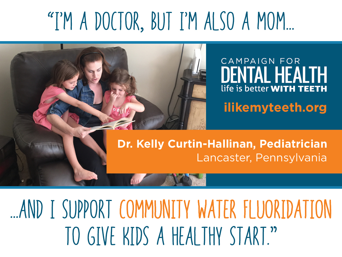 Pediatrician who supports fluoride for children