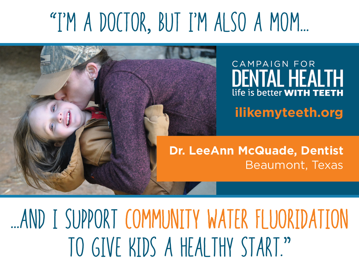pro-fluoride dentist and mother
