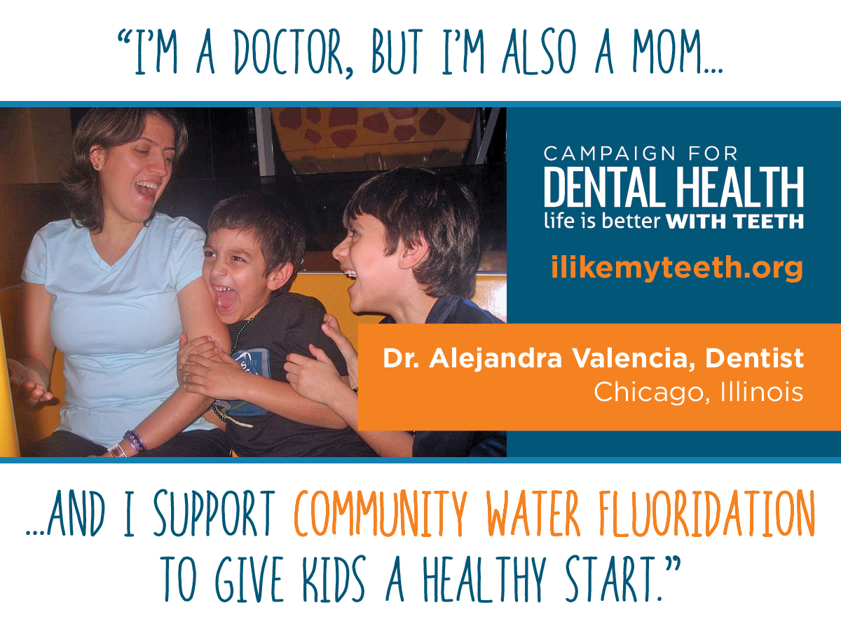 community water fluoridation supported by moms