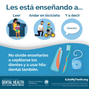 Teach Them to Brush and Floss Spanish