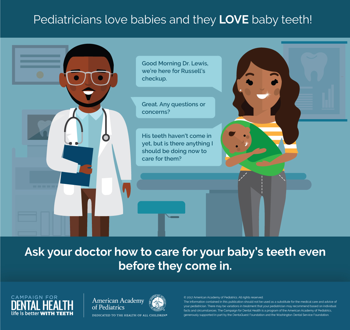 Pediatricians love babies and teeth